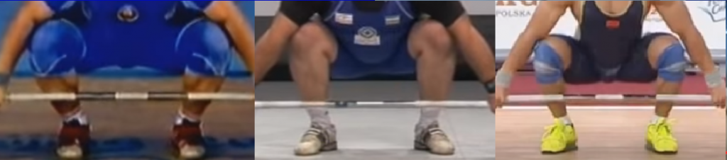 knees starting position